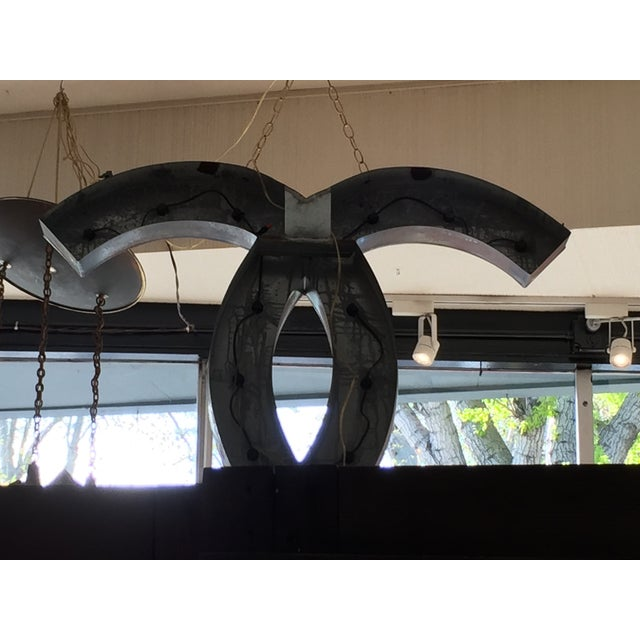 Up-Cycled Chanel Lighted Signage For Sale - Image 10 of 11