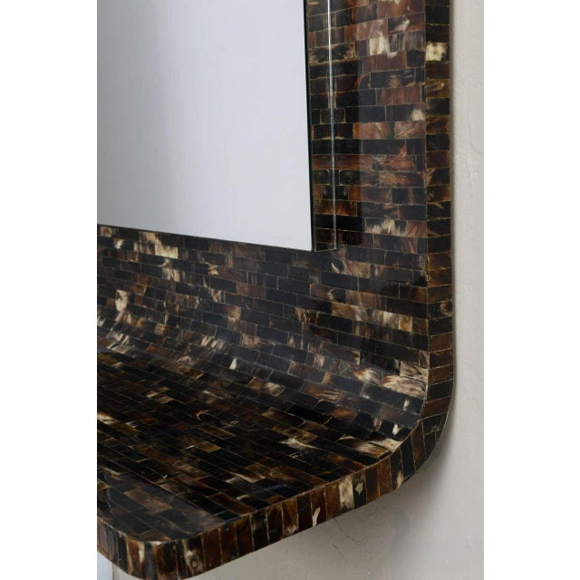 Tessellated Horn Wall-Mounted Console Mirror For Sale - Image 9 of 10