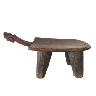 "Superb Old Lobi Stool African Burkina Faso 9"" H by 18.25"" W Preview"