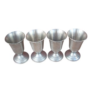 Pewter Cordial Cups - Set of 4 For Sale