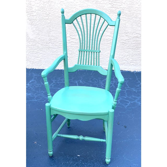 1990s 1990s Vintage Nichols & Stone French Country Dinning Chairs- Set of 8 For Sale - Image 5 of 12