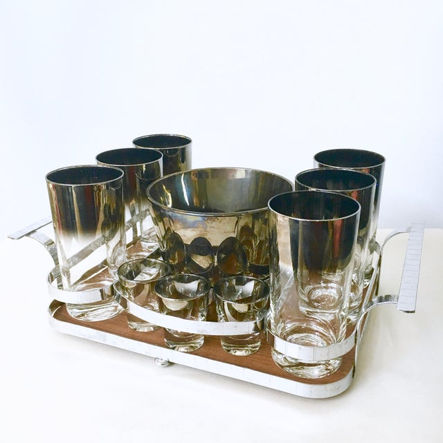 14-Piece Silver Ombre Cocktail Set - Image 2 of 5