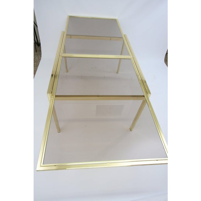 Industrial Dia Extending Brass Dining Table For Sale - Image 3 of 7