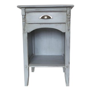 1940s French Farmhouse Gray Nightstand For Sale