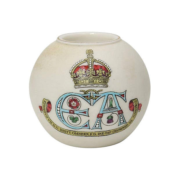 1902 King Edward VII Coronation Match Holder For Sale