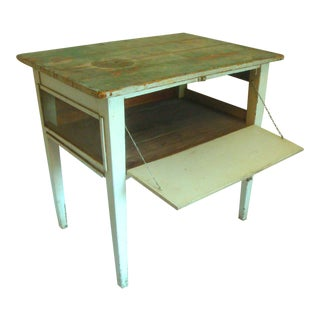 Primitive Side Table Pie Safe Cheese Keeper For Sale