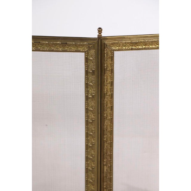 French Folding Fireplace Screen Spark Gard For Sale In New York - Image 6 of 13