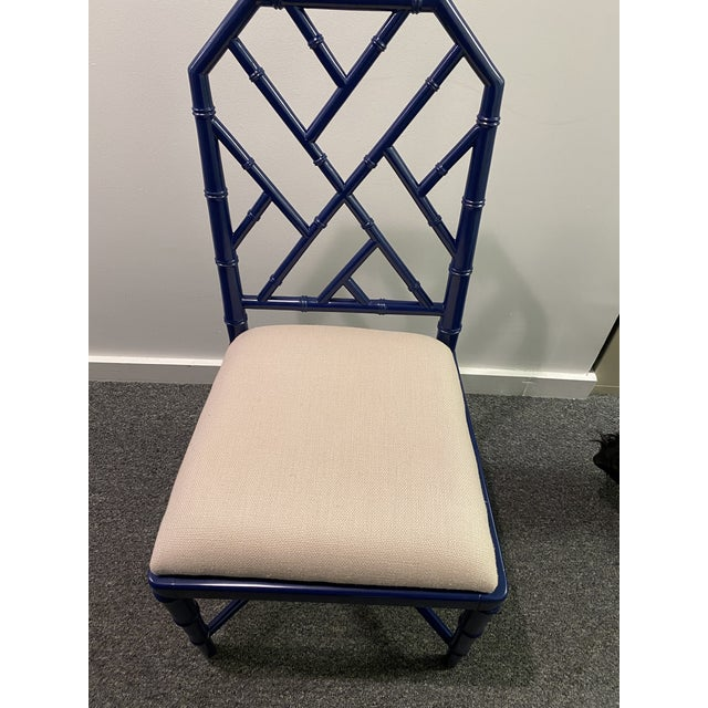 This chair is the perfect blue for any room