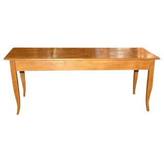 19th c. Pine Console/Sofa Back Table For Sale