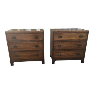 Pair of Kittinger Classic Dressers 3 Drawer Chests For Sale
