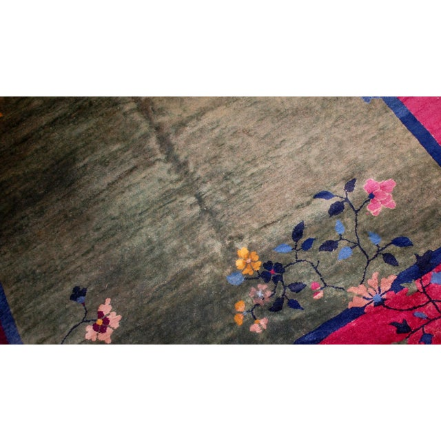 1920s Antique Art Deco Chinese Rug - 6′2″ × 11′8″ - Image 7 of 8