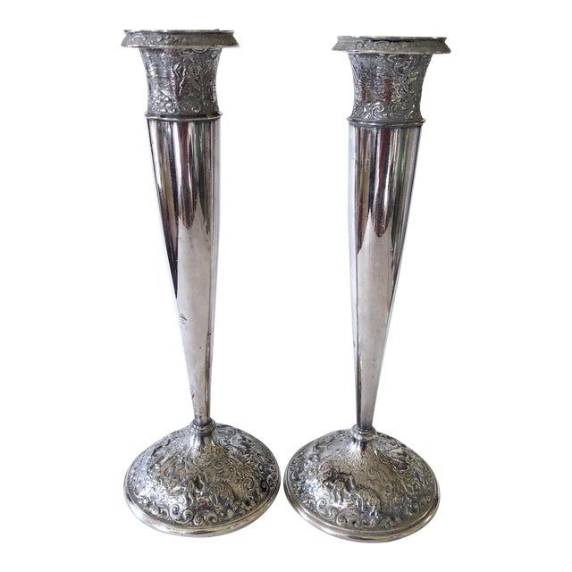 Barbour Silver Candlesticks - Image 1 of 8