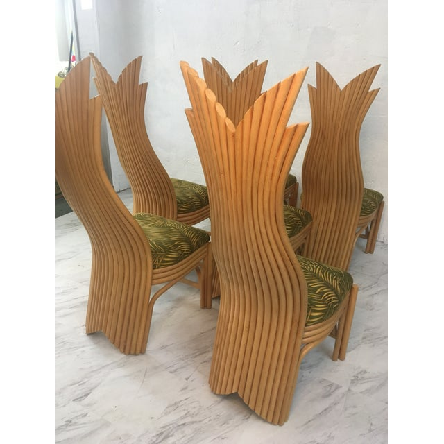 Fabulous set of 6 rattan dining chairs! These are so beautiful and unusual! They will make a room!