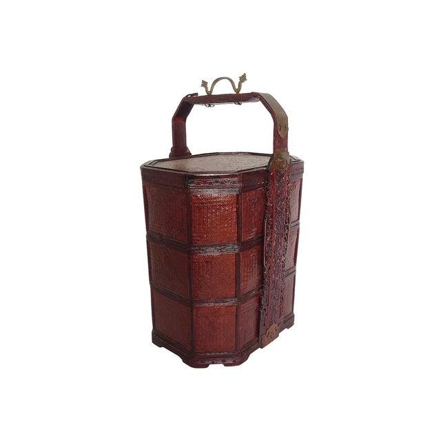 Vintage 3-Tier Chinese Wedding Basket - Image 2 of 7