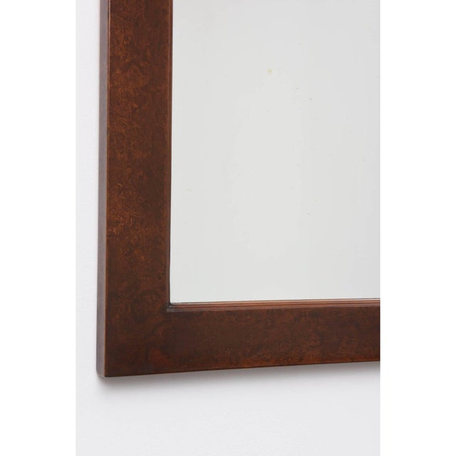 Mid-Century Burlwood Console & Mirror Set For Sale - Image 4 of 10