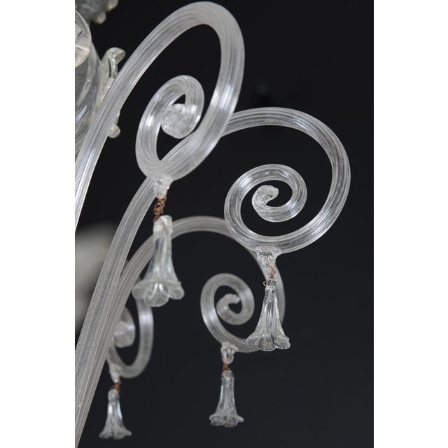 1900s 1900s Italian Murano Glass 10-Light Chandelier For Sale - Image 5 of 11