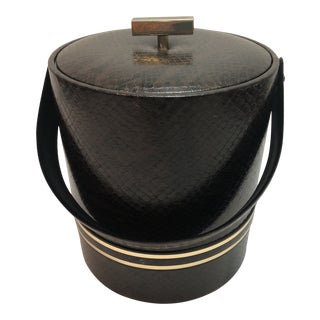 Georges Briard Faux Leather Tortoise Ice Bucket For Sale