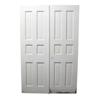 Six Panel White Doors - A Pair