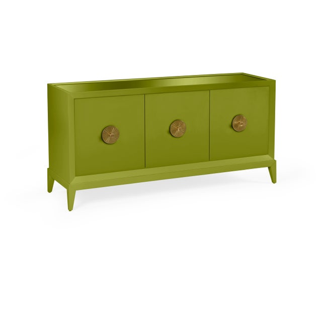 Transitional Casa Cosima Hayes Sideboard, Dark Celery For Sale - Image 3 of 5