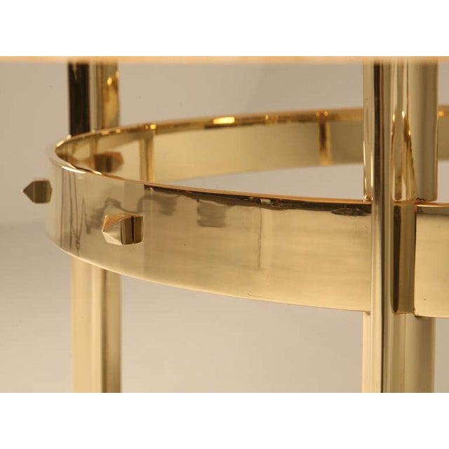 Custom Made Modern Brass & Onyx Dining Table For Sale - Image 5 of 11