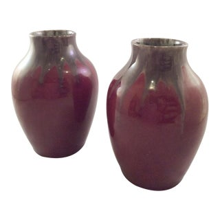 C. A. Schack German Pottery Vases - a Pair For Sale