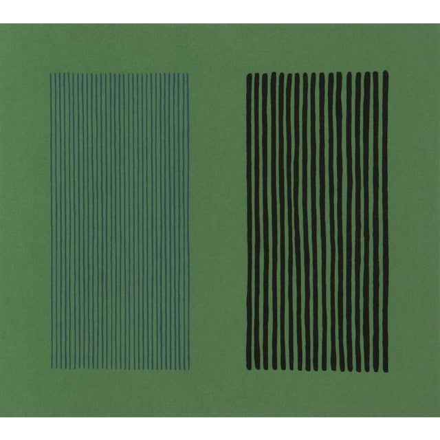 Lithograph on Arches 26 × 28 1/2 in 66 × 72.4 cm Artist: Gene Davis Title: Green Giant Year: 1980 Medium: Lithograph on...