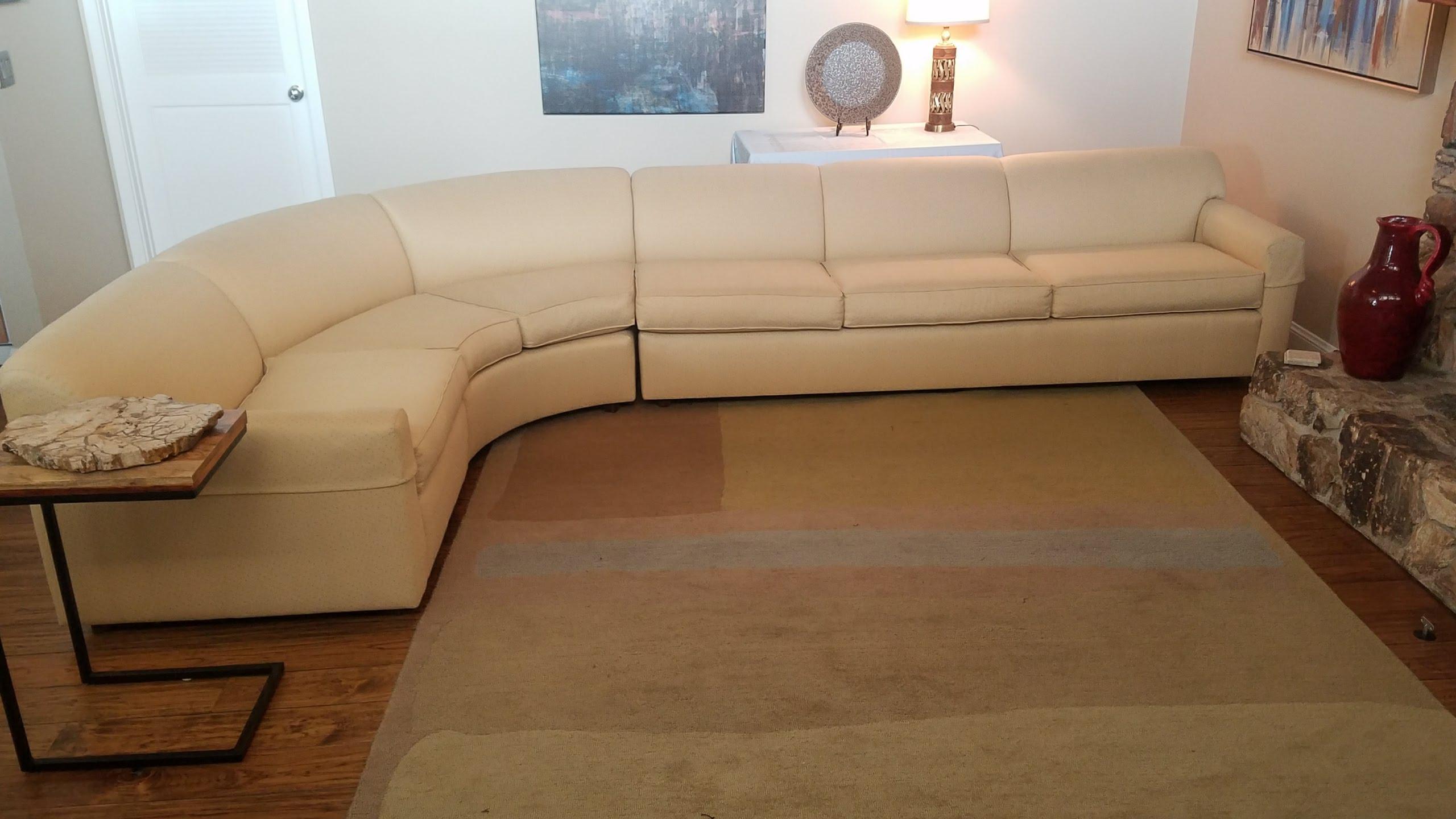 Peck U0026 Hills Custom Curved 3 Piece Sectional Sofa   Image 7 Of 11