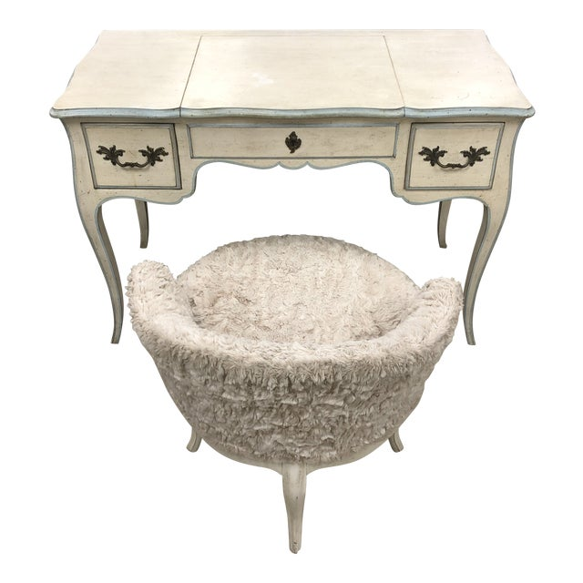John Widdicomb French Provincial Vanity & Chair For Sale