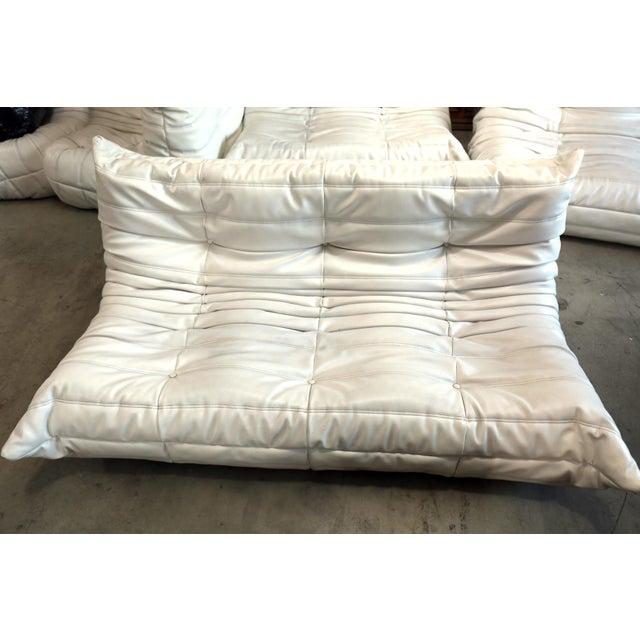 White Vintage White Ligne Roset Togo Sofa Set Designed by Michel Ducaroy For Sale - Image 8 of 13