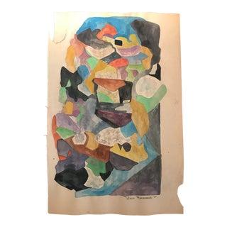 1968 Tadeusz Brzozowski Mid-Century Modern Abstract Painting For Sale