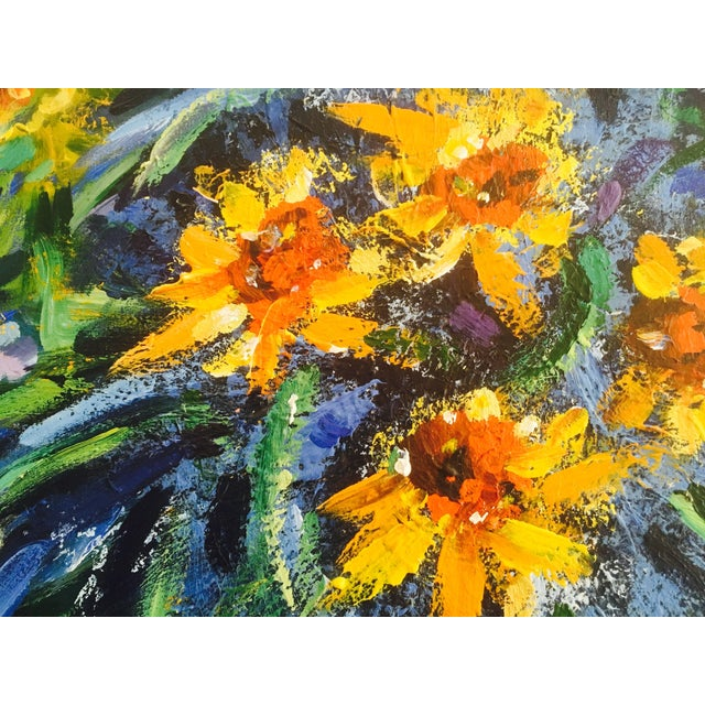 Original Impasto Floral Painting - Image 3 of 6