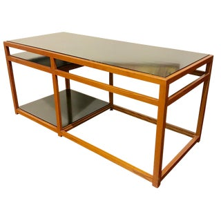 1950s Mid Century Modern Edward Wormley for Dunbar Architectural Console Table For Sale