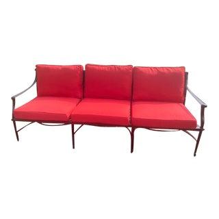 Cast Classics Monte Cristo XL Cast Aluminum Cushion Sofa For Sale
