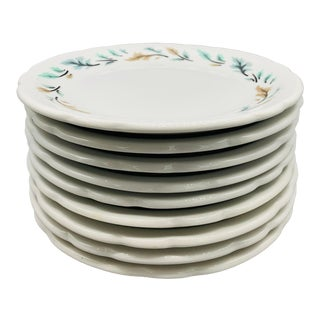 1960s Vintage Restaurant Ware Luncheon Plates From Jackson - Set of 9 For Sale
