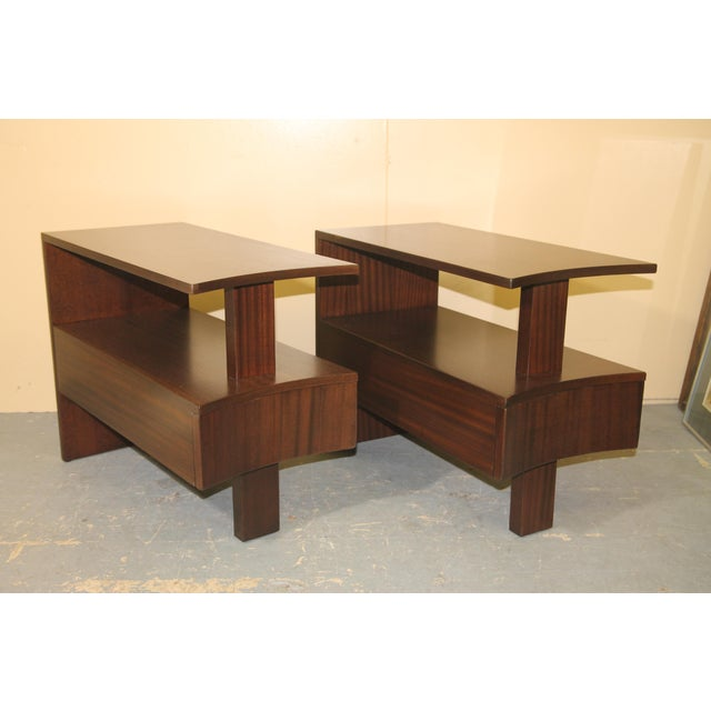 1930s Modernage African Mahogany Side Table For Sale - Image 9 of 10