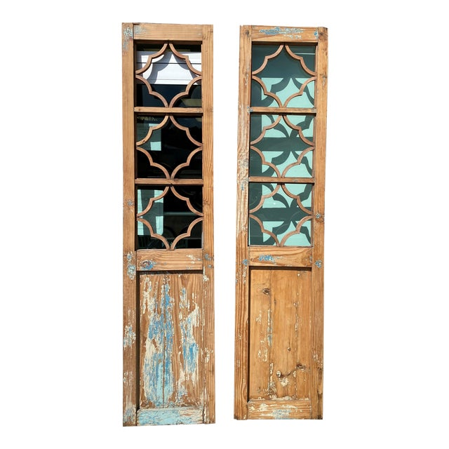 Vintage French Country Doors - a Pair For Sale