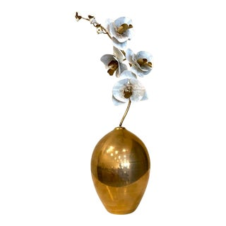 Orchid Stem in Vase Sculpture by Tommy Mittchel For Sale