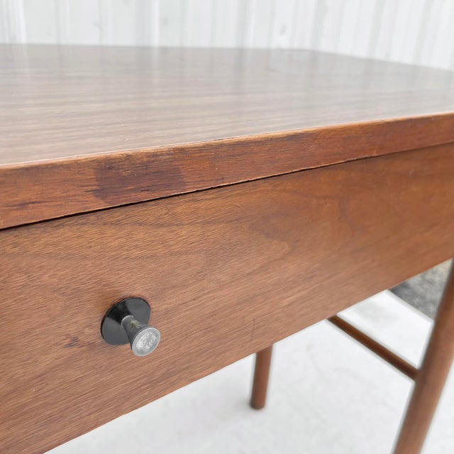 1960s Wood Mid-Century Modern Writing Desk For Sale - Image 9 of 13