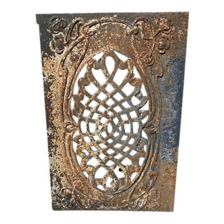 Antique French Iron Decorative Wall Piece For Sale