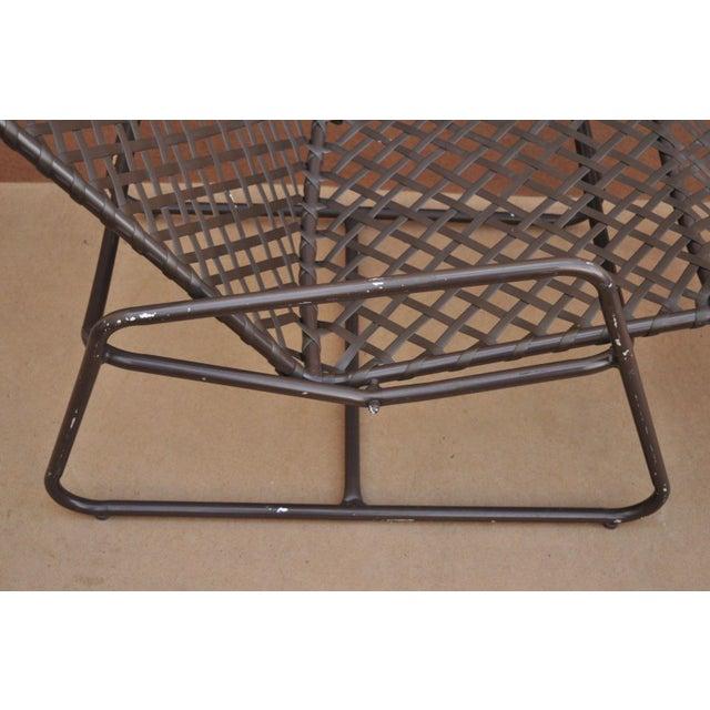 Aluminum Late 20th Century Vintage Brown Jordan Kantan Tamiami Tilt Lounge Chair For Sale - Image 7 of 10