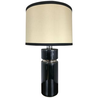 Glazed Ceramic Lamp in the Style of Pierre Cardin For Sale