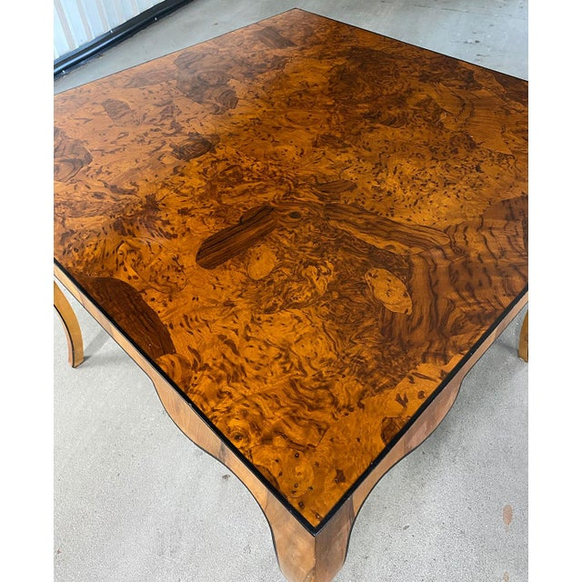 1970s Stunning Oyster Olivewood Burl Table, Made in Italy For Sale - Image 4 of 13