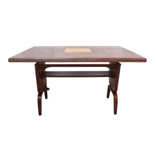 1950s Danish Modern Expandable Wood Game Table For Sale