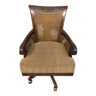 Vintage Sam Moore Executive Cane Office Chair