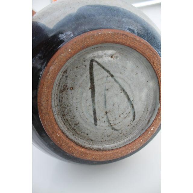 Ceramic Vintage Studio Pottery Jar Vase & Cork Stopper For Sale - Image 7 of 9