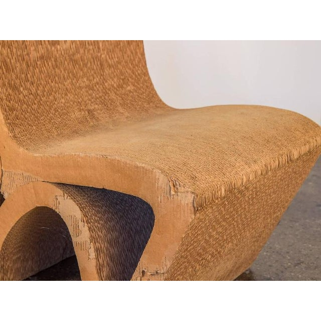 Paper Vintage Corrugated Cardboard Chair For Sale - Image 7 of 9