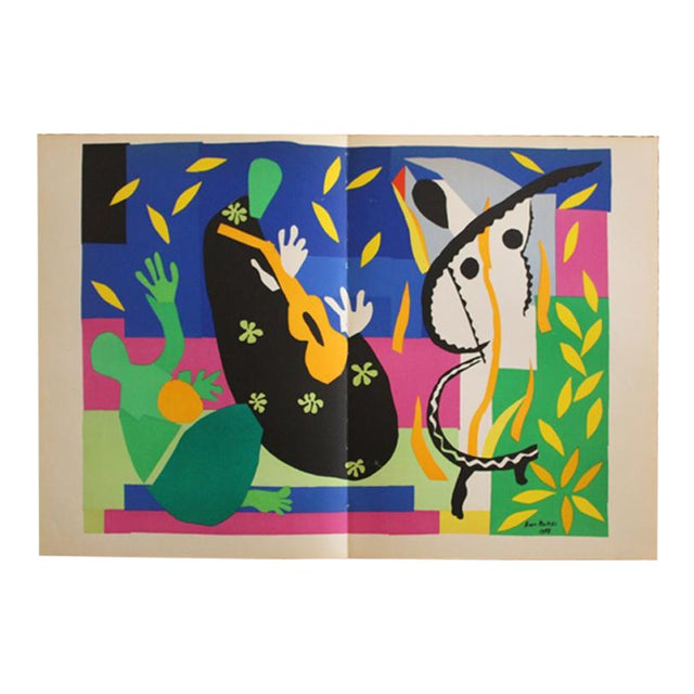 "1952 ""Tristesse Du Roi"" Original Lithograph by Henri Matisse For Sale"