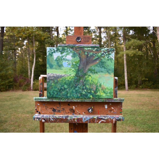 One of the older trees in the area. Painted en plein air in Dartmouth, Massachusetts, at the Mass Audubon Allens Pond...