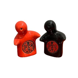 Hugging Salt & Pepper Shakers - A Pair For Sale