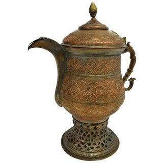 19th Century Kashmiri Copper Samovar Kettle For Sale